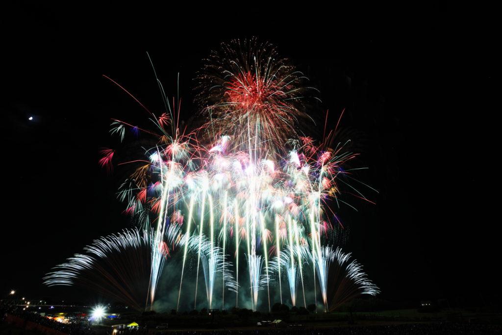 2016/08/11 常総市復興祈念第52回常総きぬ川花火大会 2枚合成、CF 600×16G使用