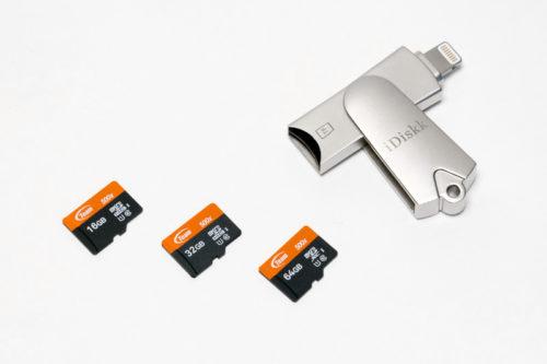 microSDカードがあれば、容量はほぼ無制限