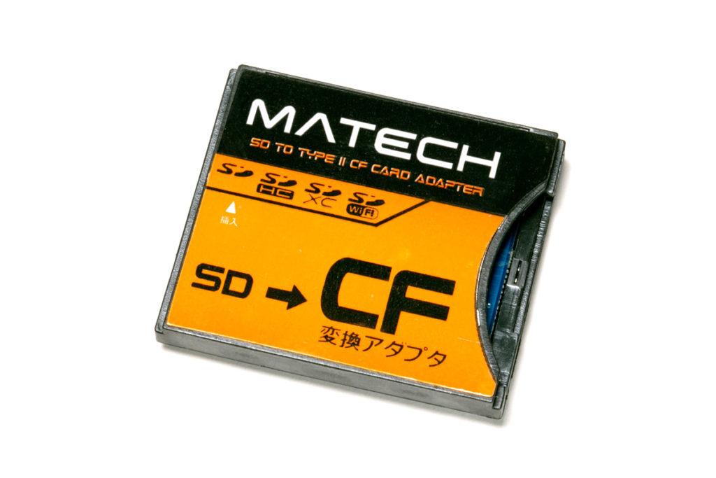 マイクロSD→CFに変換アダプター