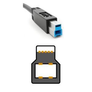 USB3.0 TypeBコネクタの形状