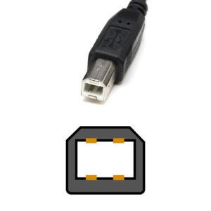 USB TypeBコネクタの形状