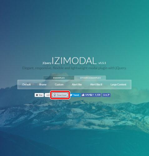 ボタンが小さくて見落としてしまいそうですが、ページ上部SNS関係のボタンに紛れている『Download』をクリック