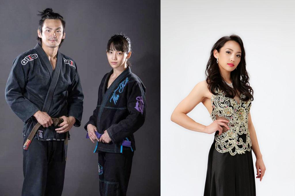 柔術家としての⼤望さんと実弟 ⼤崇志さん/モデルとしての⼤望さん ※写真提供:⼤望さん