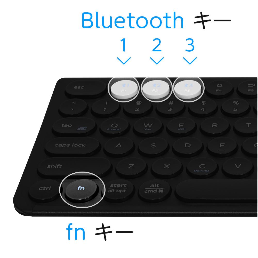 『Maruko (製品型番:IC-BK13)』Bluetoothキーは色が違うので実に分かりやすいですね