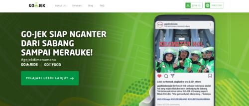 Go-Jek Webサイト