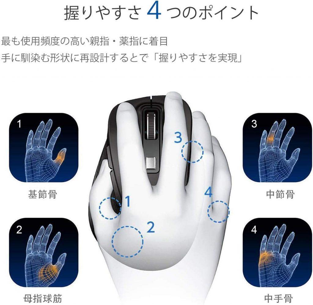 EPSKY 2.4Gワイヤレスマウス 電池式 無線マウス G-526 解説画像3