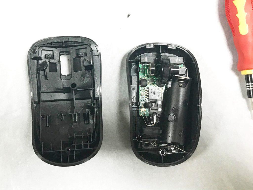 マウスの上下が分離