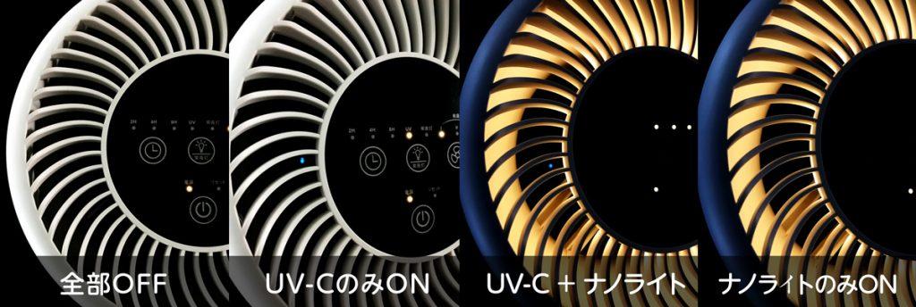 Dreamegg 『CF-8010』UV-Cとナノライトの切り替え