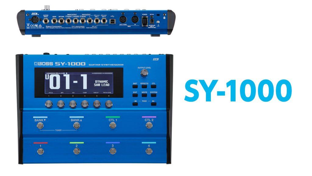 BOSS ギター/ベース・シンセ『SY-1000』発売。専用ピックアップ 『GK-3』『GK-3B』も。