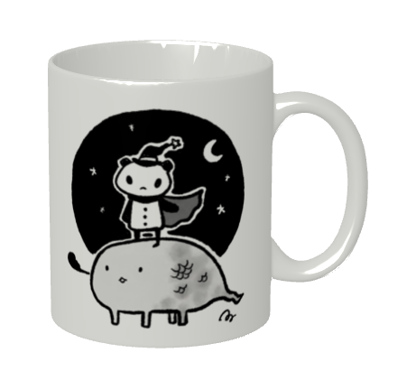 """マグカップ""""ぱんだとくりーちゃー"""" Artist : あさひな。"""