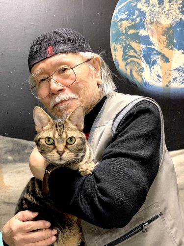 松本氏の愛猫ミーくん