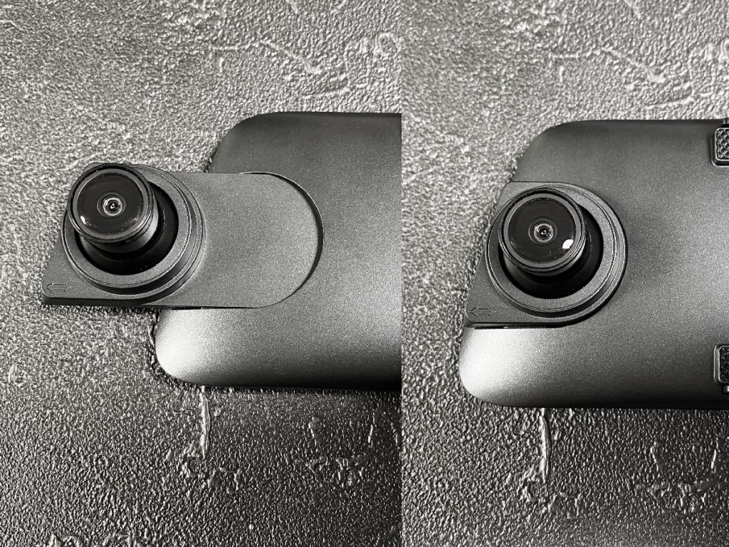 『AUTO-VOX ドライブレコーダーV5』のカメラは、上下左右に角度を変えられる上、右側にある程度伸ばせる