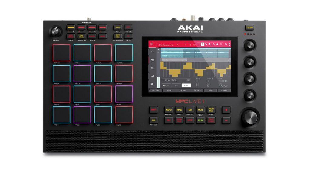 Akai 初のスピーカー内蔵モデル『MPC Live II』発売 無償ソフト更新で全MPCにMIDI Multi機能追加も