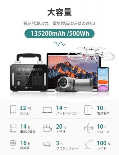 大容量かつ高出力『iClever UA500-01』