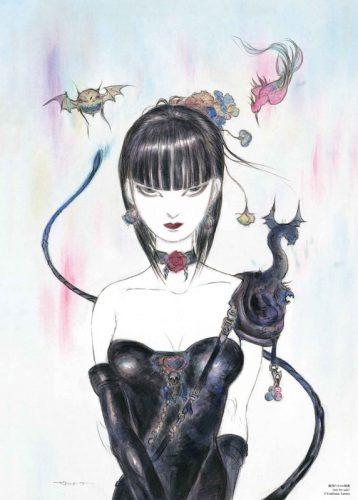 天野喜孝描き下ろし B5大判カラーイラストカード(非売品)