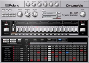 『TR-606 ソフトウェア・リズム・コンポーザー』の画面イメージ1