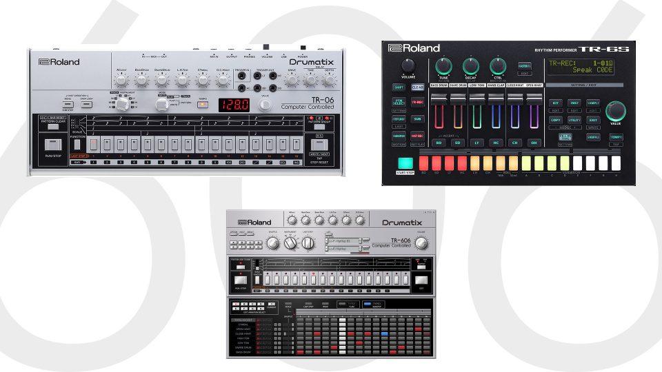 Rolandから『TR-06』『TR-6S』/DTM用プラグイン『TR-606 ソフトウェア・リズム・コンポーザー』発売