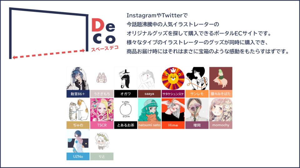 SNSで話題のイラストレーターが集結『__Deco(スペースデコ)』 がスタート!