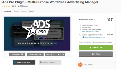 WPプラグイン Ads Pro Plugin Multi-Purpose WordPress Advertising Manager