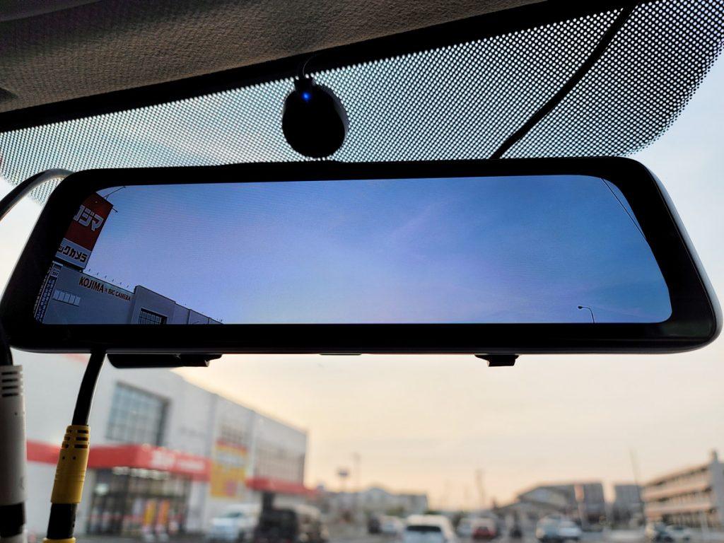 AUTO-VOX X6 フロントカメラを限界まで上に向けた状態