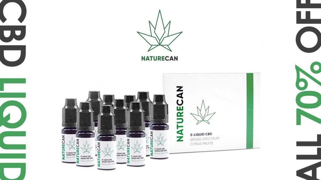 Naturecan CBDリキッド全品70%OFFセール開始 uzurea限定15%OFFクーポンで更にお得に!