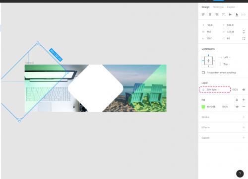 Frameの左側に配置した矩形にも同じ設定を適用