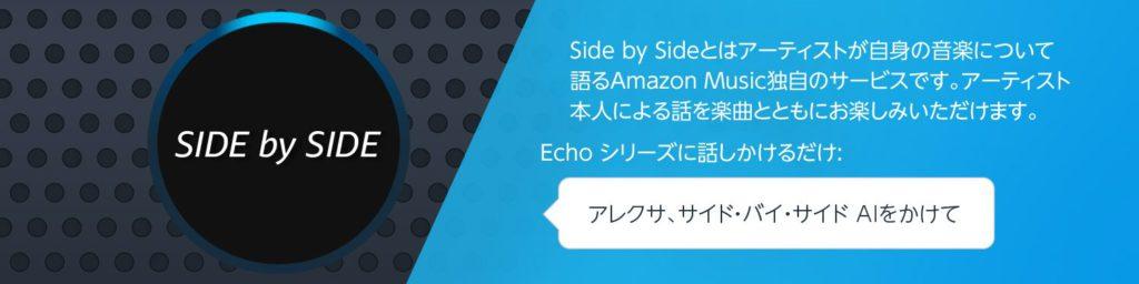 Amazon Side by Side は アレクサにも対応