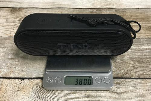 Tribit XSound Go IC-BTS20 重量は380g