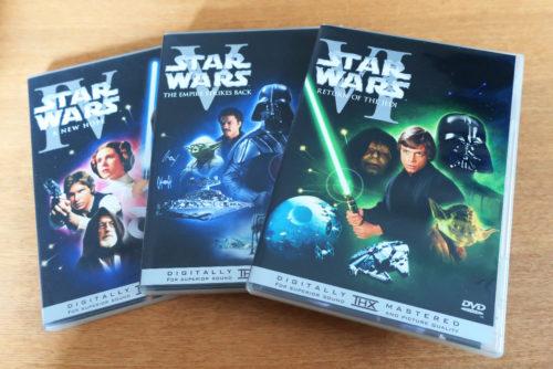 スターウォーズ エピソード3、5、6(初期3作品)DVD