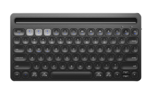 モバイルスタンドを搭載した『IC-KB01』最大3デバイス同時接続可能