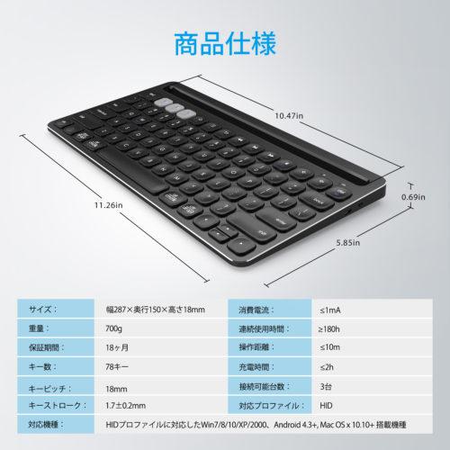 IC-BK01は重量わずか700g、サイズは幅287mm×奥行150mm×高さ18mm。