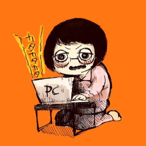 浦部はいむ氏による、「ライター Mai」のイラスト