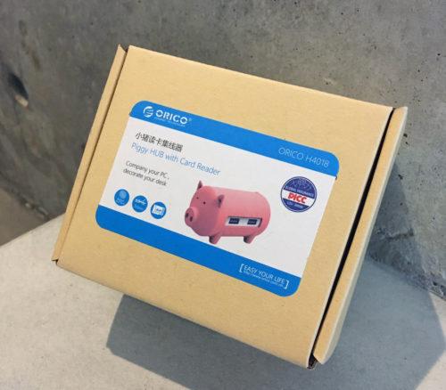 ORICO 豚型 USBハブ カードリーダー の箱