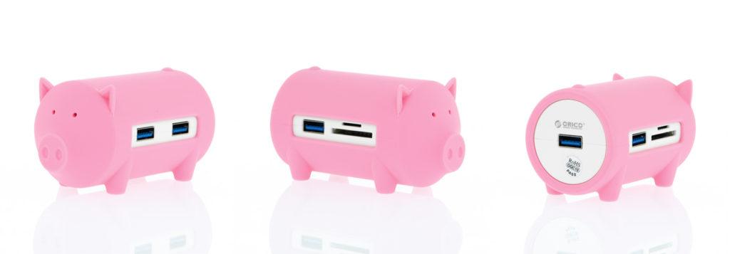『ORICO 豚型 USB HUB』コネクタが沢山ついている