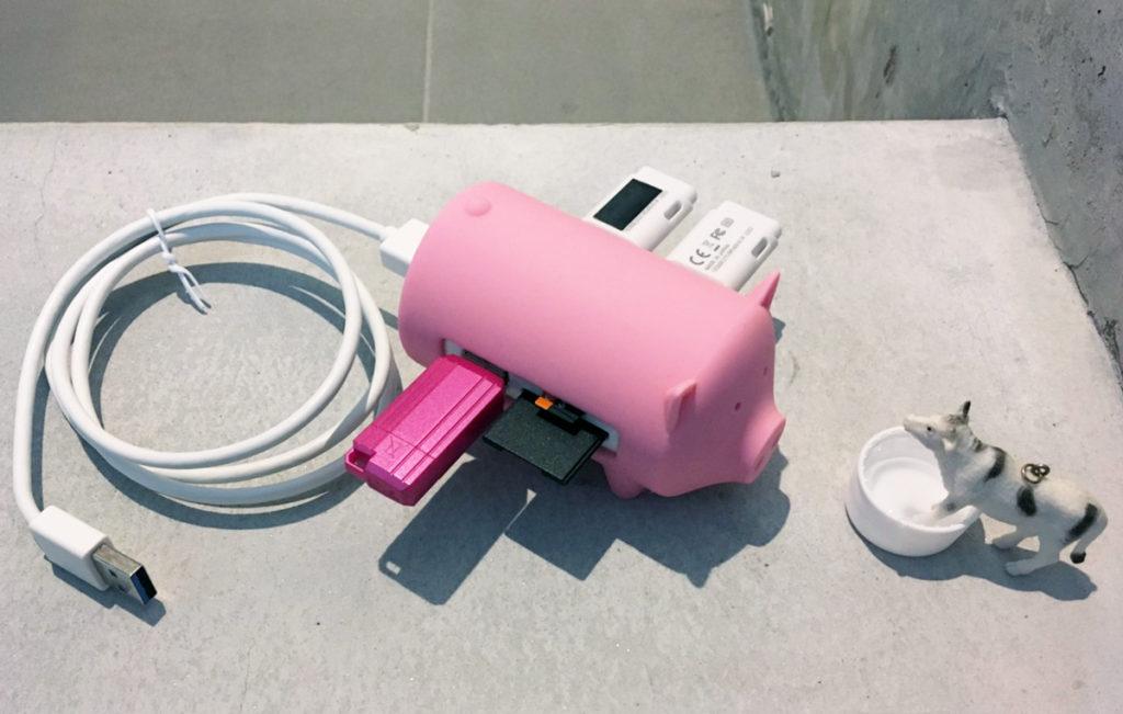 『ORICO 豚型 USB HUB』全コネクタに挿す