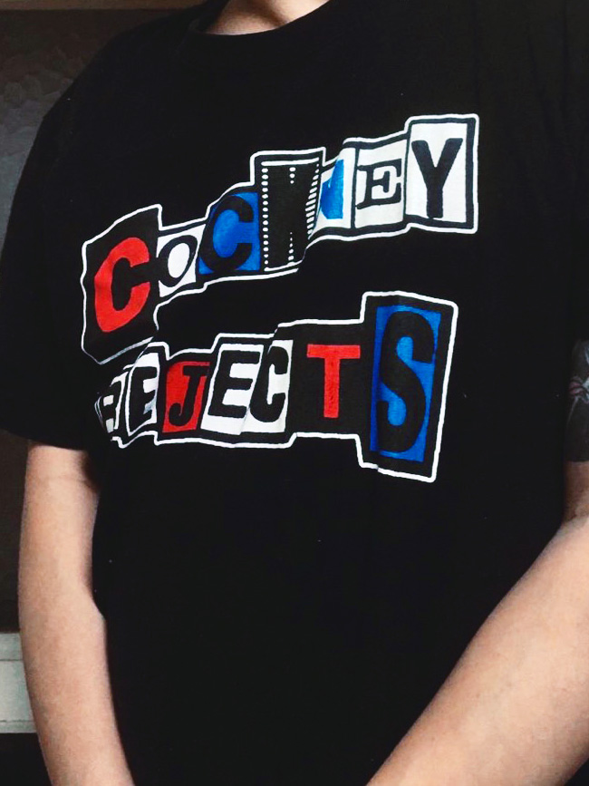 お気に入りのCOCKNEY REJECTS のTシャツ!