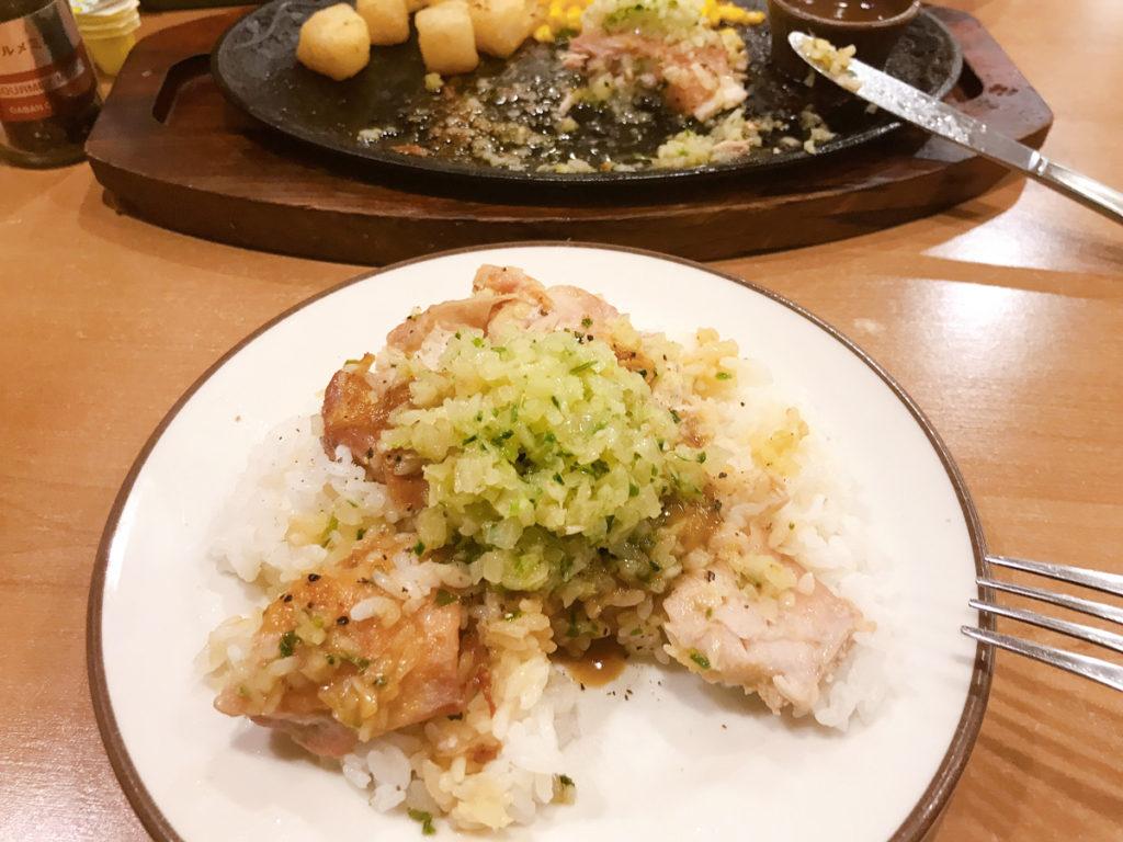 ディアボラソースと、ガルムソースを更に追加した『鶏のディアボラ丼』