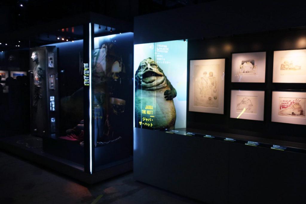 『スターウォーズアイデンティティーズ ザ・エキシビション』会場内には額縁に収納されたコンセプトアートも