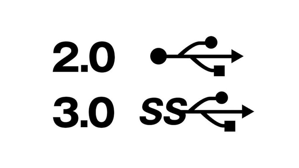 USB2.0とUSB3.0 マーク