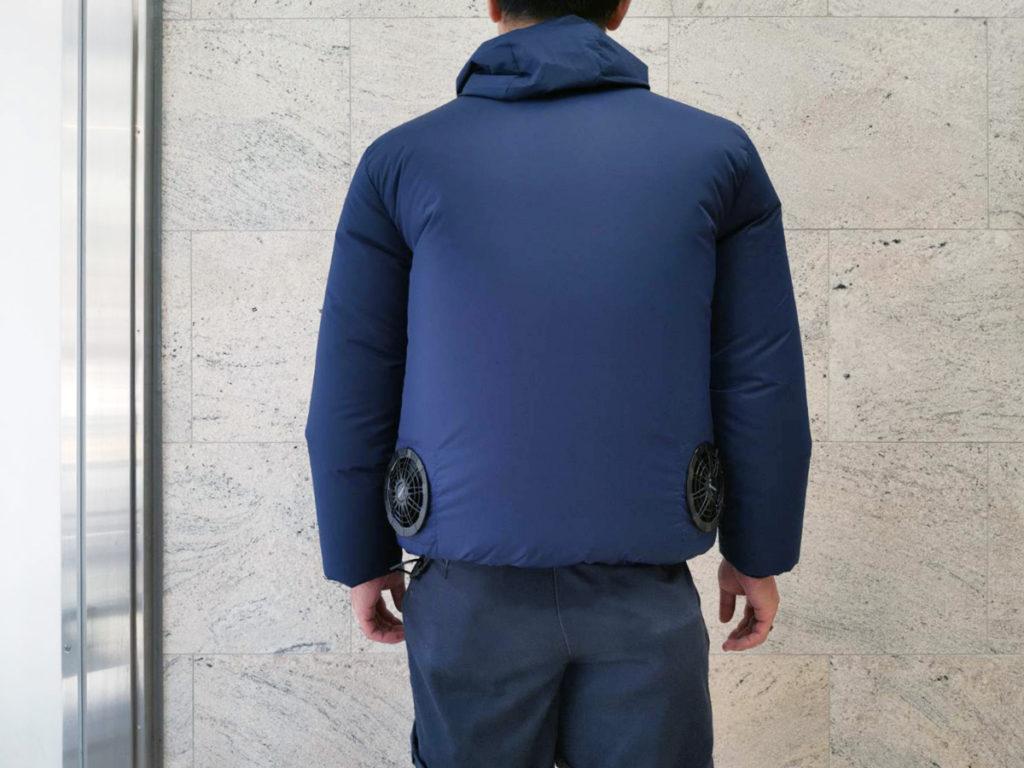 Vinmoriの空調服 バックスタイル